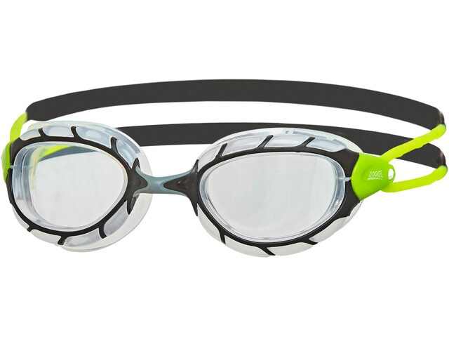 Zoggs Predator Goggles, black/lime/clear